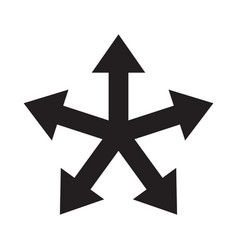 multiple arrow direction icon vector image