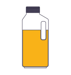 orange juice bottle in color sections silhouette vector image vector image