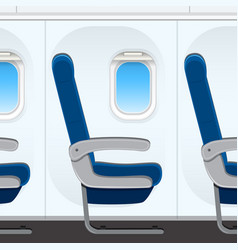 passesnger airplane seat templaye vector image