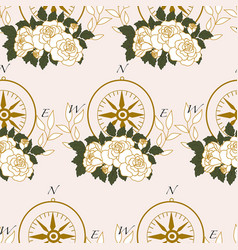 pattern design with compass and white elegant vector image