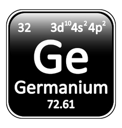 Periodic table element germanium icon vector image