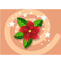 Poinsettia icon christmas vector image