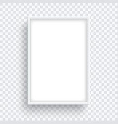 rectangle white frame isolated on transparent vector image