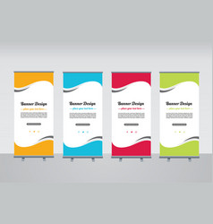 rollup banner design vector image