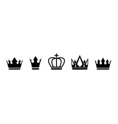 set crown vector image