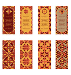 set of colorful vertical banners vector image