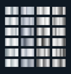 silver metal gradient collection chrome vector image