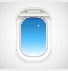 sky view outside plane window vector image