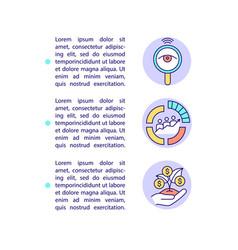 Smart content advantages concept line icons vector