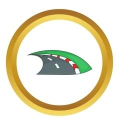 Speedway icon vector