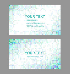Square tile mosaic business card templates vector image