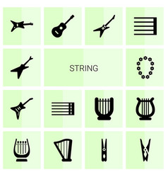 string icons vector image