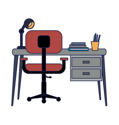 study office room vector image