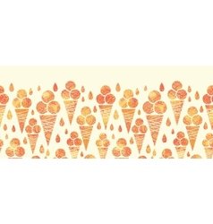 Summer ice cream cones horizontal seamless pattern vector image