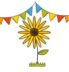 sunflower icon design vector image