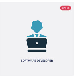 two color software developer icon from vector image