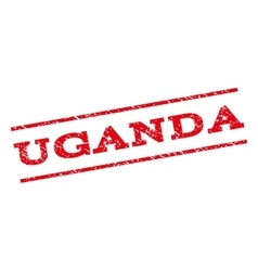 Uganda Watermark Stamp vector