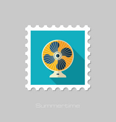 Ventilator stamp summer vacation vector