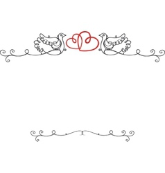 Wedding vintage frame vector image
