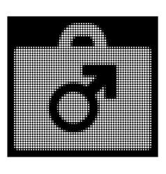White halftone potence tools icon vector