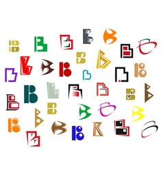 alphabet symbols and elements vector image vector image