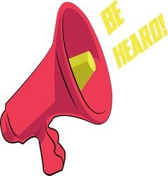 Be Heard vector image