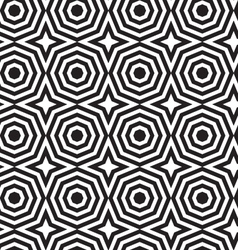 Black and white alternating octagons with stars vector image