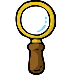 cartoon doodle magnifier vector image