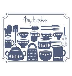 kitchen label vector image vector image