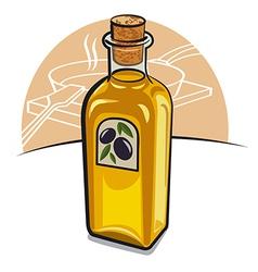 oil bottle vector image vector image