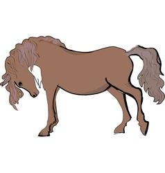 Sketch of horse vector image