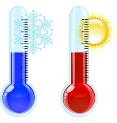 Thermometer Hot and Cold icon vector image