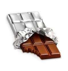 Chocolate bar a tasty piece of chocolate i vector image