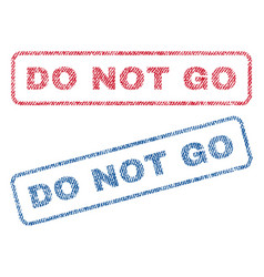 do not go textile stamps vector image