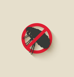 flea warning sign vector image vector image