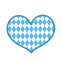oktoberfest in the heart shape icon is a flat vector image