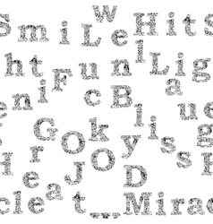 seamless pattern of words and letters vector image