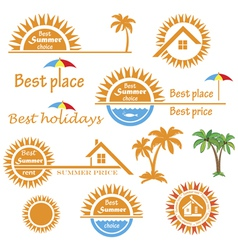 Season summer emblems design vector image vector image