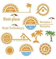 Season summer emblems design vector image