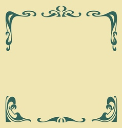 secession frame vector image vector image