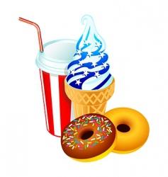 American dessert vector image vector image