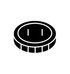 coin - cent icon black sign vector image