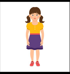 disappointed little girl in summer dress vector image vector image