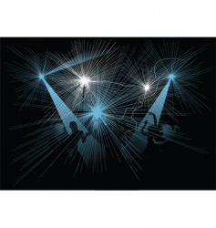 disco night vector image vector image
