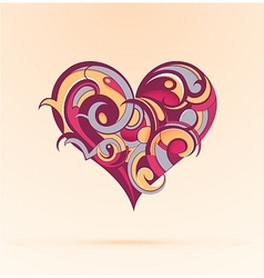 Heart-shape design vector image