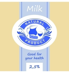 Logo and labels for dairy products Editable vector image vector image