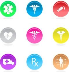 medical circular icons vector image