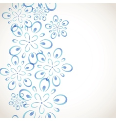 Monochrome flower pattern vector image vector image
