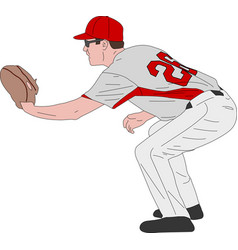 baseball player detailed vector image vector image