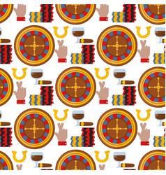 casino roulette gambler joker slot machine poker vector image